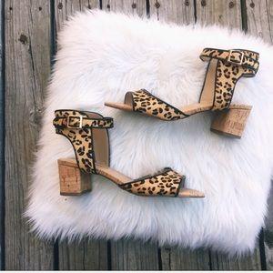 NEW Vaneli Oasis Leopard Print Sandals